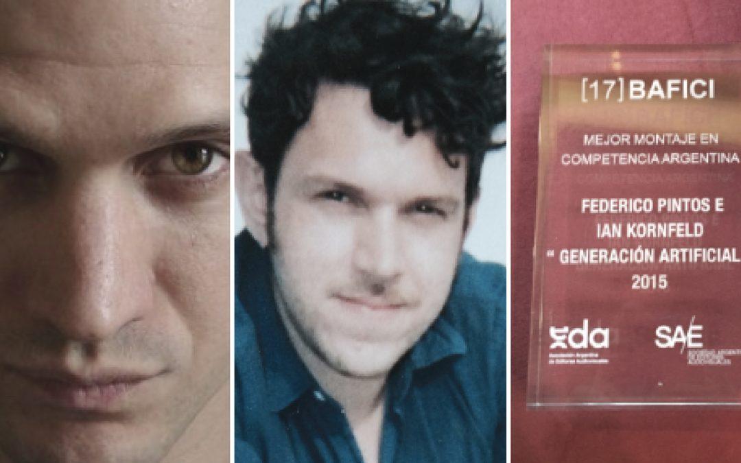 Ian Kornfeld y Federico Pintos, los ganadores del premio a Mejor Montaje