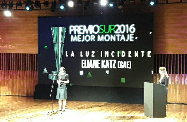 Eliane Katz (SAE) ganó el Premio Sur a Mejor Montaje por «La luz incidente»