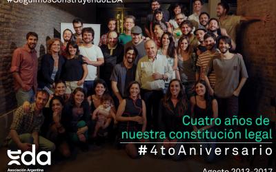ASOCIACIÓN> A 4 AÑOS DE NUESTRA CONSTITUCIÓN LEGAL