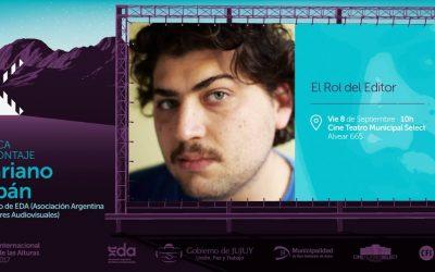 FESTIVAL INTERNACIONAL DE CINE DE LAS ALTURAS: TALLER «EL ROL DEL EDITOR».