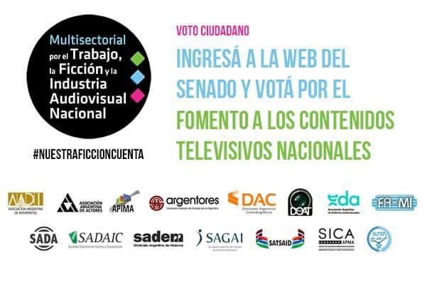 Voto ciudadano por la Ley de TV y Nuevas Plataformas